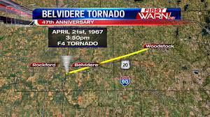 Illinois Tornado Map by First Warn Weather Team Belvidere Tornado 47th Anniversary