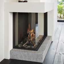 gas fireplace insert corner remote controlled tulp stûv
