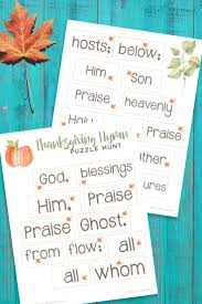 thanksgiving hymn puzzle hunt hunt thanksgiving and homeschool