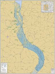 Canadian River Map Mississippi River Pool 9 Wall Map