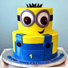 minions birthday cake 2 tier minion cake 3kg gift minion 3d cake for 1st