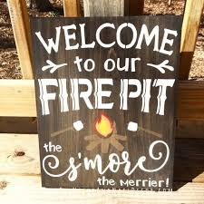 Outdoor Decorative Signs Welcome To Our Fire Pit Outdoor Home Decor Wedding Gift Outdoor