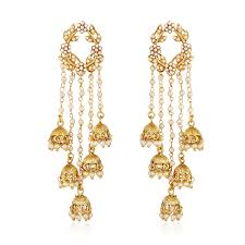 earrings image buy shining fashion jewellery gold plated stylish fancy party