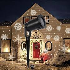 new led snowflake projector landscape lighting outdoor