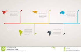 World Map Timeline by Structure Timeline With World Map Stock Vector Image 39714295