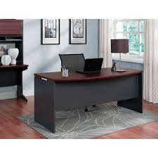 Wooden Office Table Design Ameriwood Home Pursuit Executive Desk Cherry Gray Walmart Com