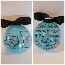 state or country ornament best friends gift