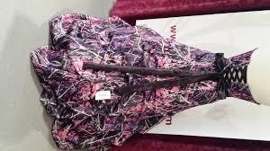 camo gown corset back larenas