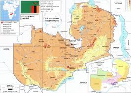 Zambia Map Zambia