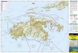 Map Of The Virgin Islands Virgin Islands National Park National Geographic Trails