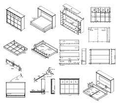 Free Woodworking Plans Bookcase by Murphy Bed U0026 Bookcase Murphy Bed Editor And December