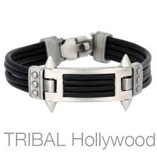man black leather bracelet images Mens leather jewelry tribal hollywood jpg