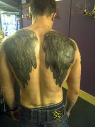 wings tattoos on back