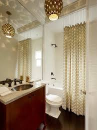 shower curtain instead of shower door bathroom contemporary with