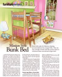 Mission Bedroom Furniture Plans by Mission Style Bunk Bed Plans U2022 Woodarchivist