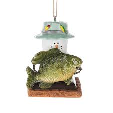 2 75 s mores fishing marshmallow ornament christmascentral