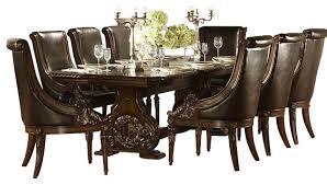 11 dining room set homelegance orleans 11 pedestal dining room set in