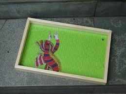 art tray black necked crane print gifts