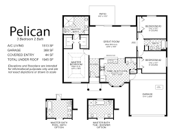 spectacular 3 bedroom house plans single floor with pelican plan
