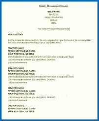 chronological resume template resume template chronological embersky me