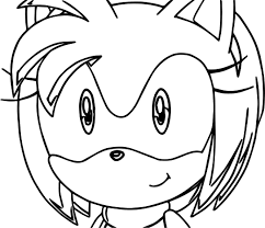 amy rose face coloring page wecoloringpage