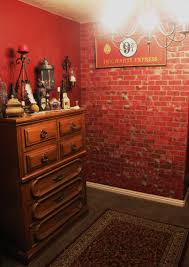harry potter room platform 9 3 4 sign and brick wall h p
