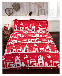 Christmas Duvet Cover Sets Christmas Duvet Covers Reindeer Road Brushed Cotton King Size