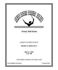Church Programs Template Sample Concert Program Concert Program 05 31 2009 North Shore