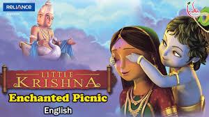 film kartun english little krishna english episode 4 enchanted picnic youtube