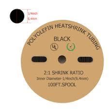 30 feet in meter 100 feet 30 meter black 6mm id polyolefin 2 1 heat shrink tube