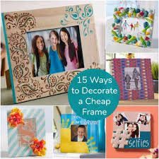 decorate pictures 15 ways to decorate cheap wooden picture frames mod podge rocks