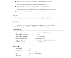Testing Tools Resume For Experienced Pleasurable Ideas Model Resume 9 Experienced Mobile Testing