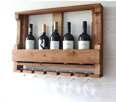 wine rack wood wine bottle holder rack wall mounted 6 bottle 3ft