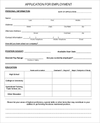 printable application for mployment free printable employment