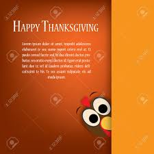 thanksgiving turkey vector card template traditional