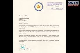 copy of vp leni u0027s resignation letter