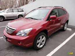 lexus rx 400h used car sale 2008 lexus rx 400h awd hybrid in matador red mica 046426