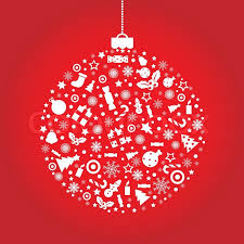 christmas ball on red background vector illustration stock