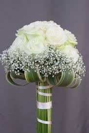 baby s breath bouquet white roses with baby s breath bouquet wedding flower