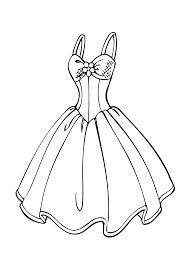 drawn gown colouring page pencil and in color drawn gown