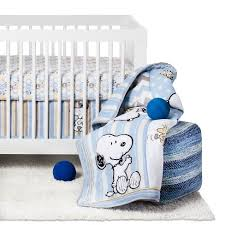 Snoopy Bed Set Peanuts 4 Crib Bedding Set My Snoopy Target