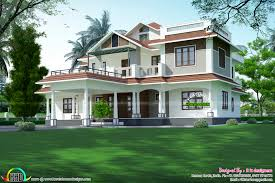 Kerala Home Design And Cost 4354 sq ft 5 bedroom mixed roof home kerala home design bloglovin u0027