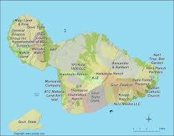Maui Hawaii Map Maui Landowners Map Maui Large Land Tracts