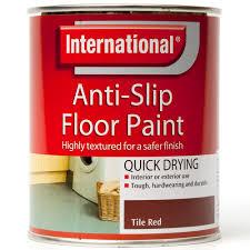 Red Floor Paint Anti Slip Floor Paint Tile Red 750ml