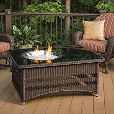 outdoor greatroom fire table amazon com the outdoor greatroom company resin wicker fire pit