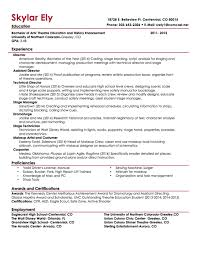 Technical Theatre Resume Template What Is Methodology In Thesis Writing Cornell University