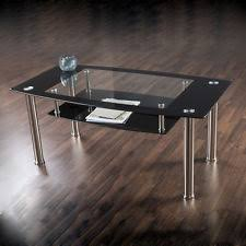 Black Glass Coffee Table Black Glass Coffee Tables Ebay