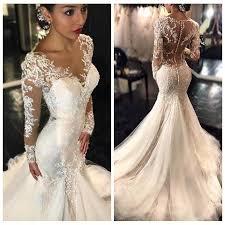 wedding dress lace sleeves 2017 new gorgeous lace mermaid wedding dresses dubai