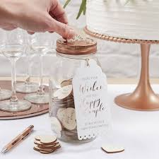 wedding wish jar glass wishing jar wedding guest book alternative by