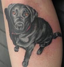 secret lake tattoo tattoos blackwork dog portrait cover up